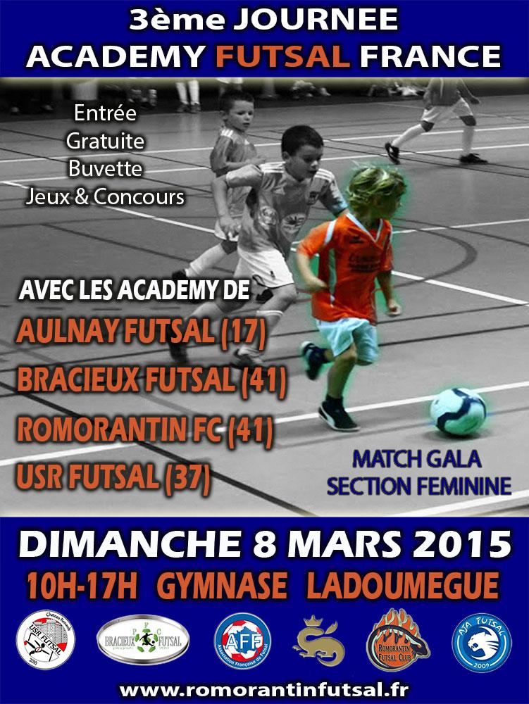c'est au tour de Romorantin d'accueillir l'Académy Futsal France,