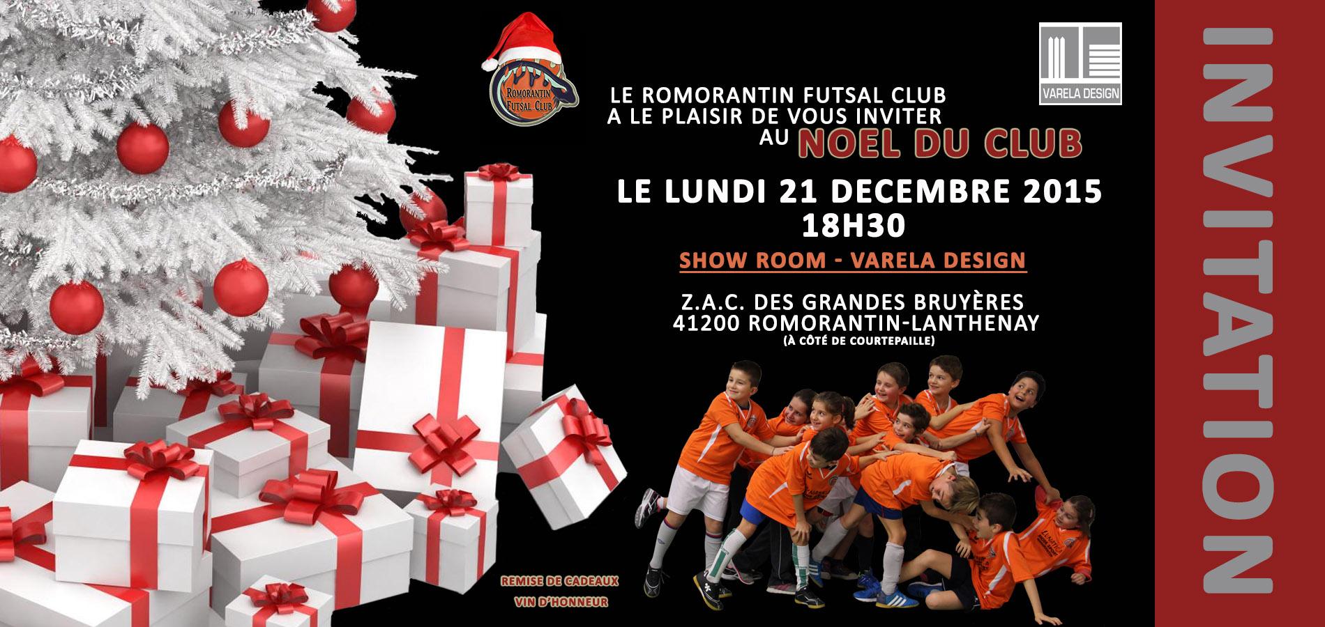 invitation noel 2015 romorantin futsal