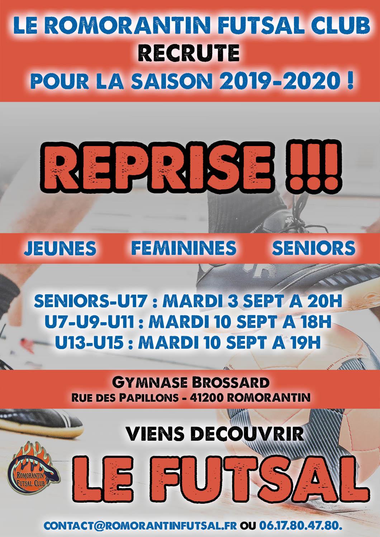 reprise romorantin futsal 2019-2020
